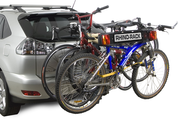 Rhino RBC008 bike rack loaded