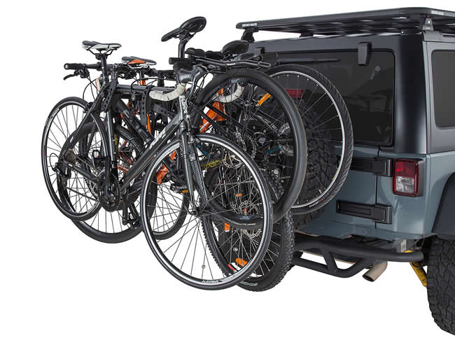 Rhino RBC038 bike rack loaded