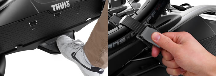 Thule VeloCompact  tilt mechanism