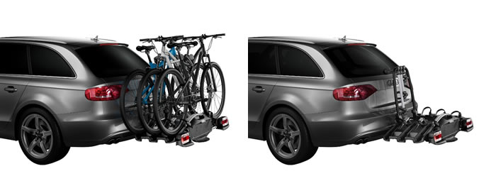 Thule VeloCompact fitted to car bike rack