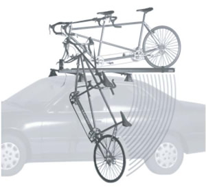 Thule Tandem bike carrier loading bike