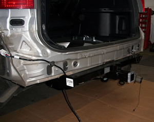 Hayman Reese tow bar being fitted to Honda CRV