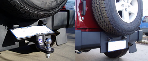 Jeep Wrangler tow bar