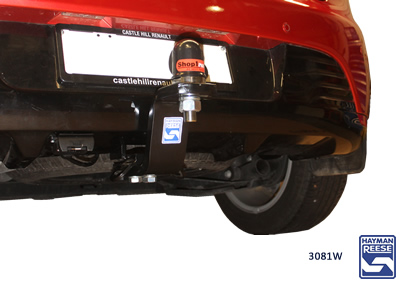 Tow bar fitted to Renault Clio
