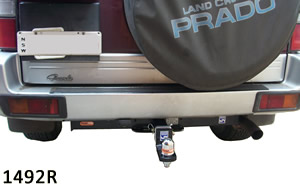 Hitch bar fitted to Toyota Prado