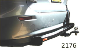 Toyota Tarago tow bar instalation