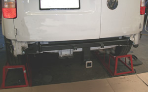 fiiting tow bar to VW Caddy