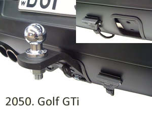 Tow bar fitted to Golf GTi