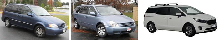 Kia Carnival series 1 and Grand Carnival 2006 on