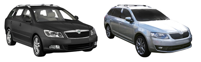 Skoda Octavia roof racks , vehicle image
