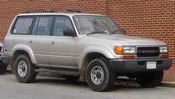 Roof Racks, Toyota Landcruiser 80series vehicle pic