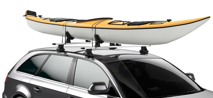 Thule DockGrip with kayak on car