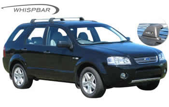 Ford Territory Roof racks, Prorack Whispbar