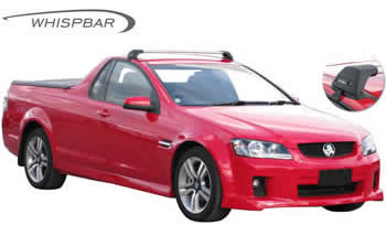 Holden Commodore UTe Whispbar roof racks