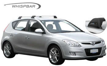 Hyundai i30 hatchback whispbar roof rack