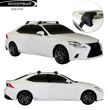 Lexus IS250 roof rack whispbar