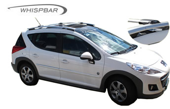 Peugeot 207 roof racks fitted to car