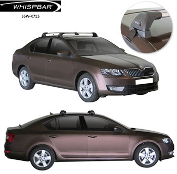Skoda Octavia roof racks Whispbar