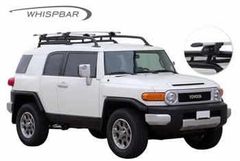 Roof racks fitted to FJ Cruiser