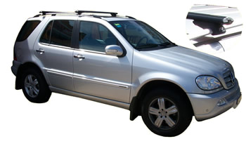 Roof Racks fitted to Mercedes ML